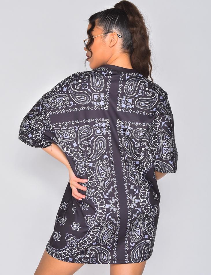 T-shirt à motif bandana