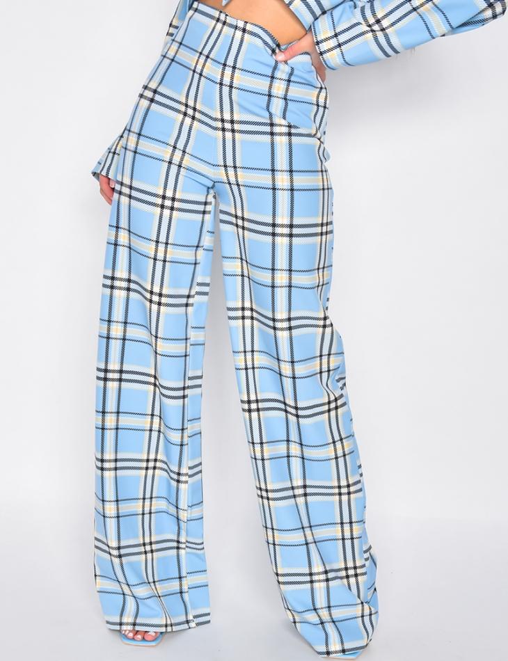 Pantalon de tailleur large à rayures