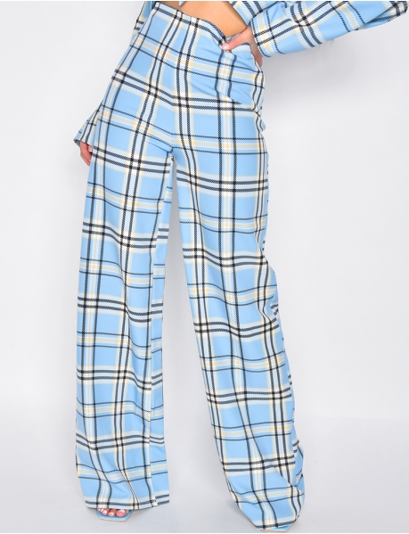 Striped Wide Leg Tailored Trousers