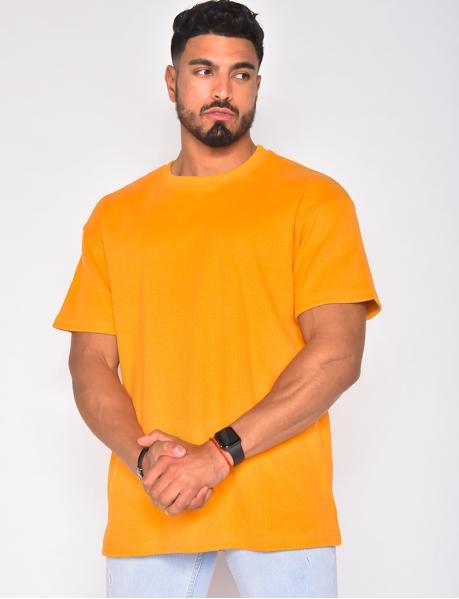 T-shirt homme côtelé