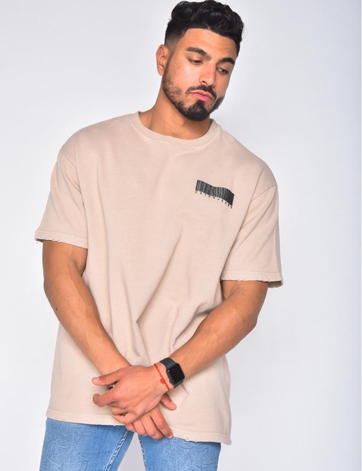 T-shirt manche courtes avec code barre