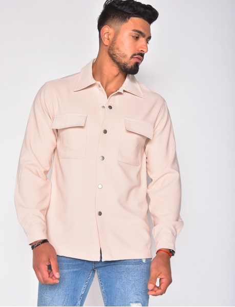 - Long-sleeved shirt with snap fasteners