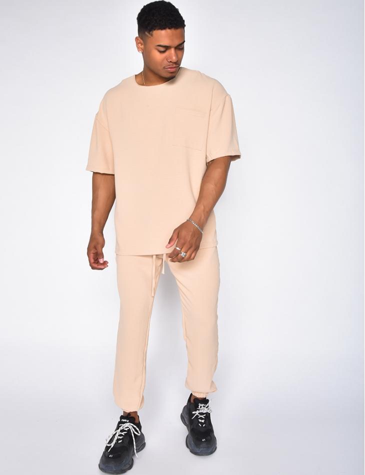 Ensemble pantalon et t-shirt fluide