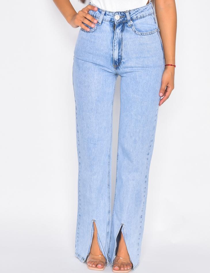 Jeans à fentes sur le devant