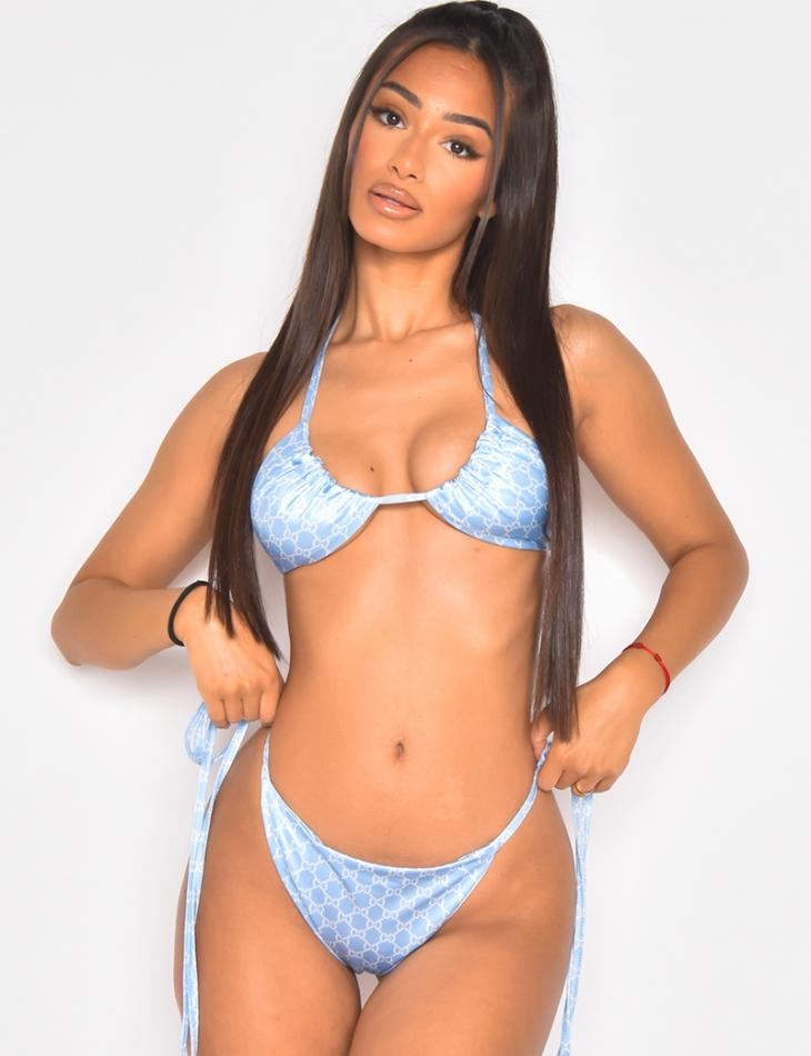 Bikini motif chaîne