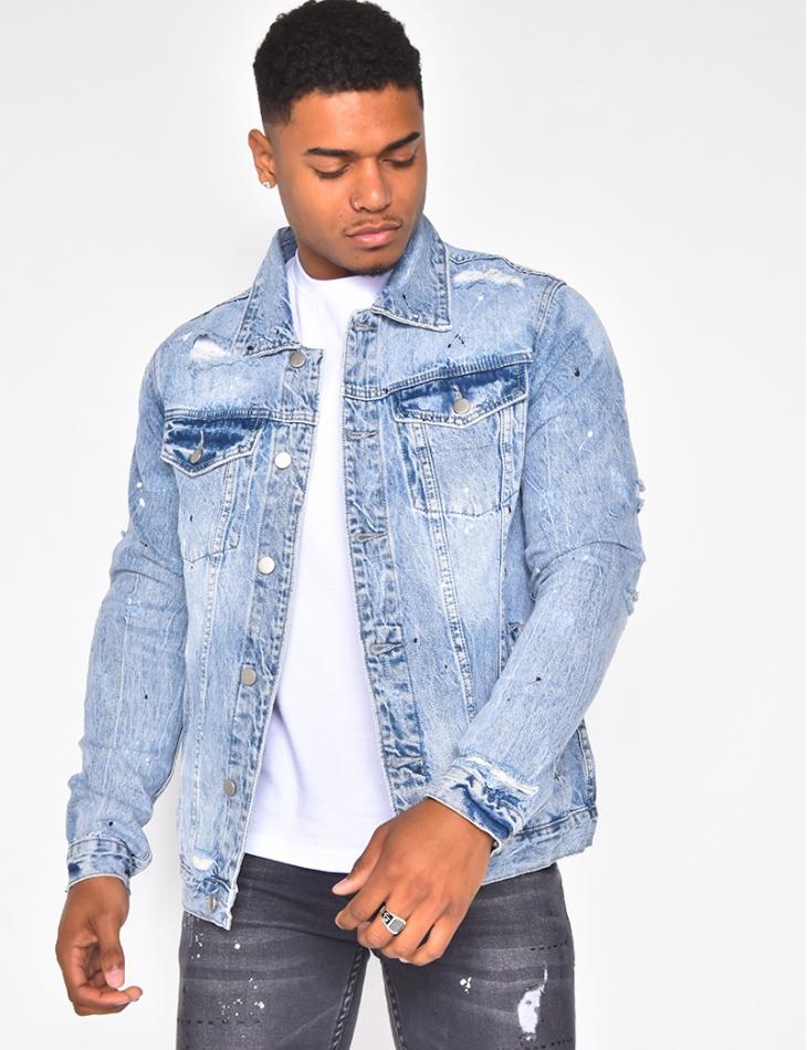 Veste en jeans destroy