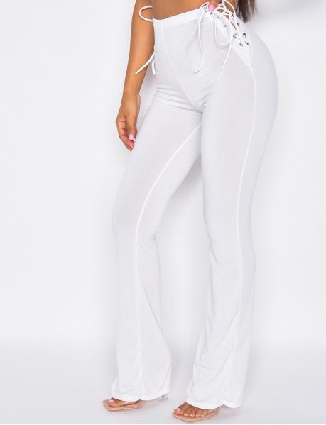 Loose side-tie trousers