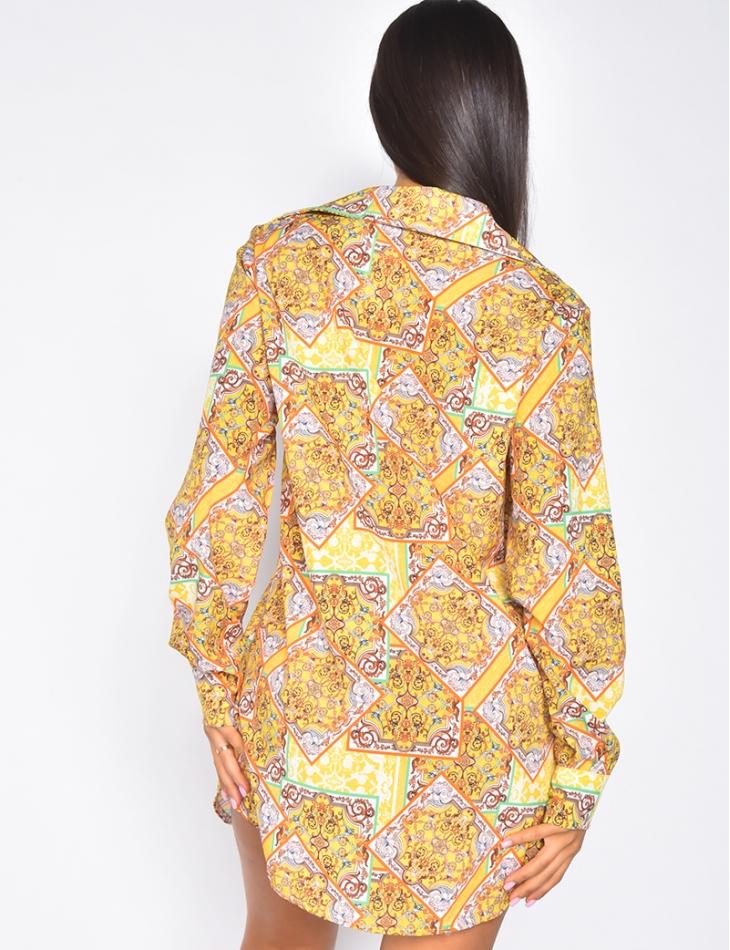 Chemise à motif baroque