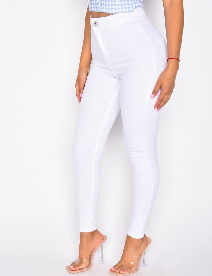 Jeans slim taille haute
