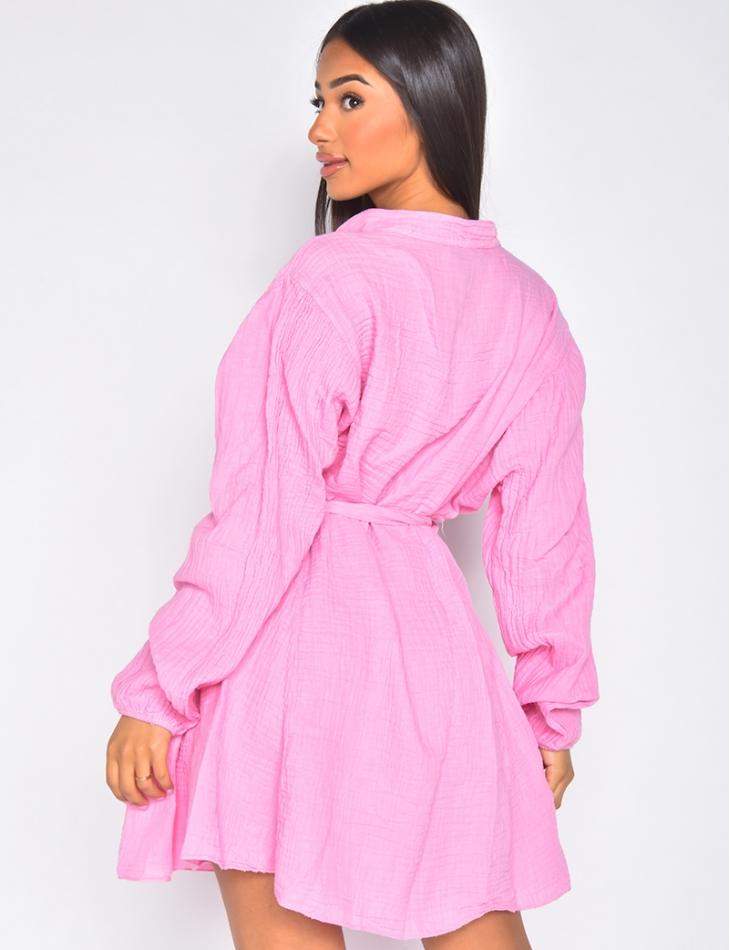 Robe à nouer en coton