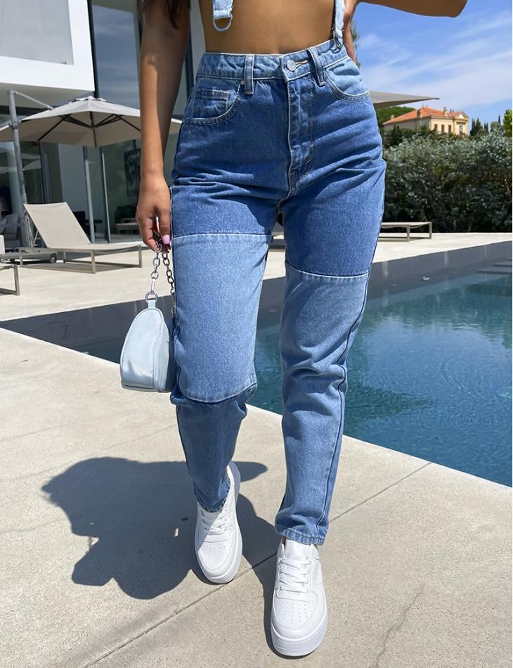 Jeans a empiècement