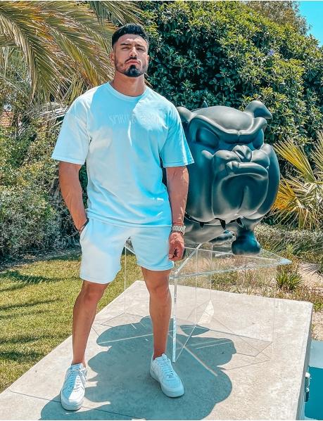 Shorts und T-Shirt-Kombination, zweifarbig