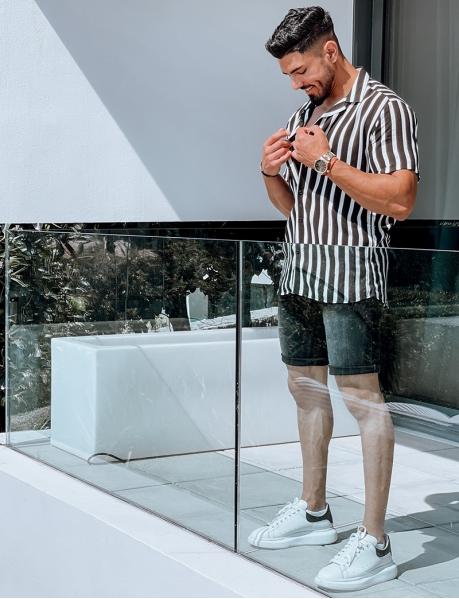 Chemise homme à rayures