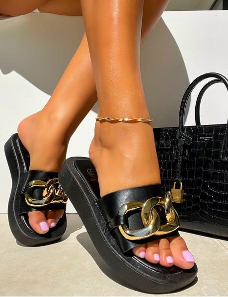 Sandales à semelle épaisse et maillons