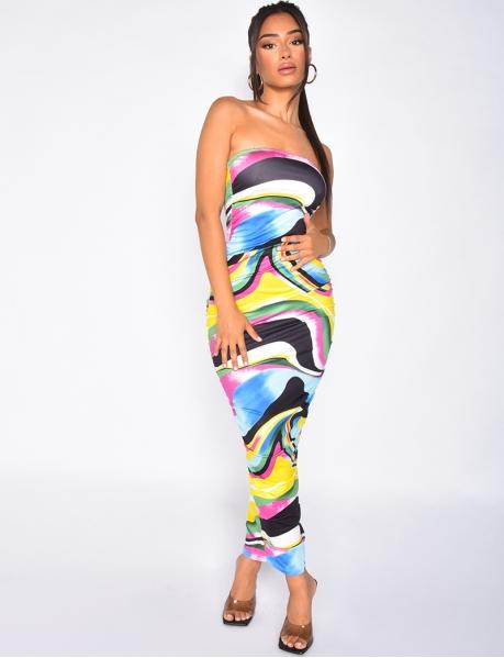 Robe tube multicolore