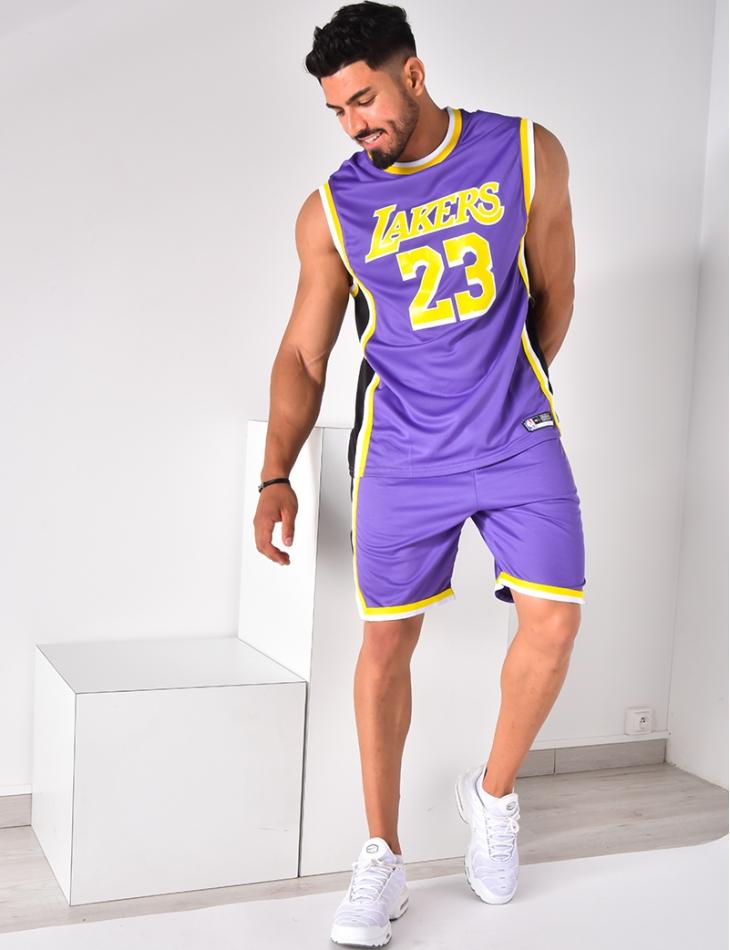 """Ensemble short et t-shirt de basket """"Lakers"""""""