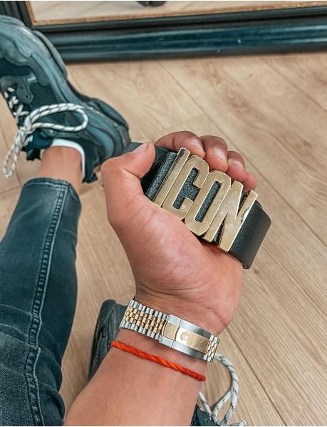 """ICON"" leather belt"