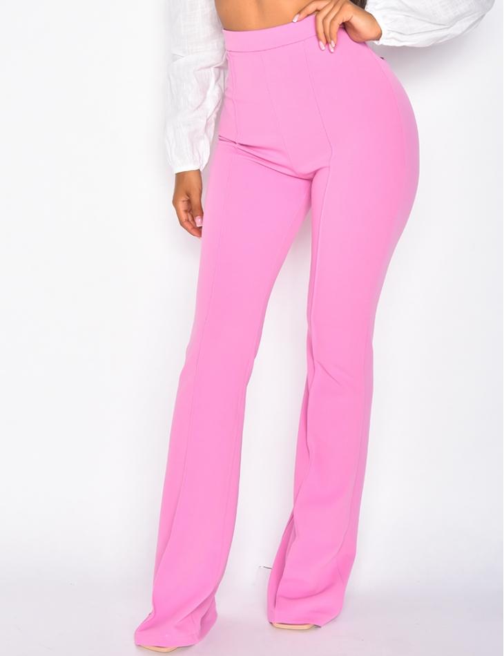 Pantalon de tailleur taille haute