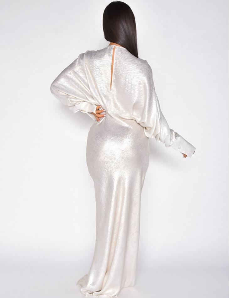 Robe premium longue fluide irisée