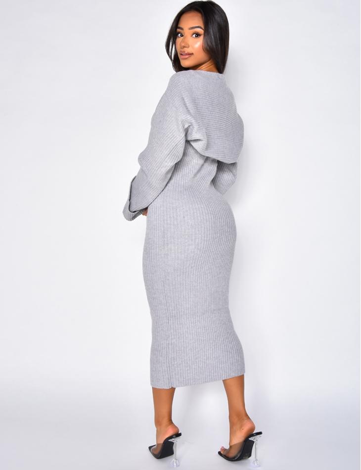 Robe en laine sans manche