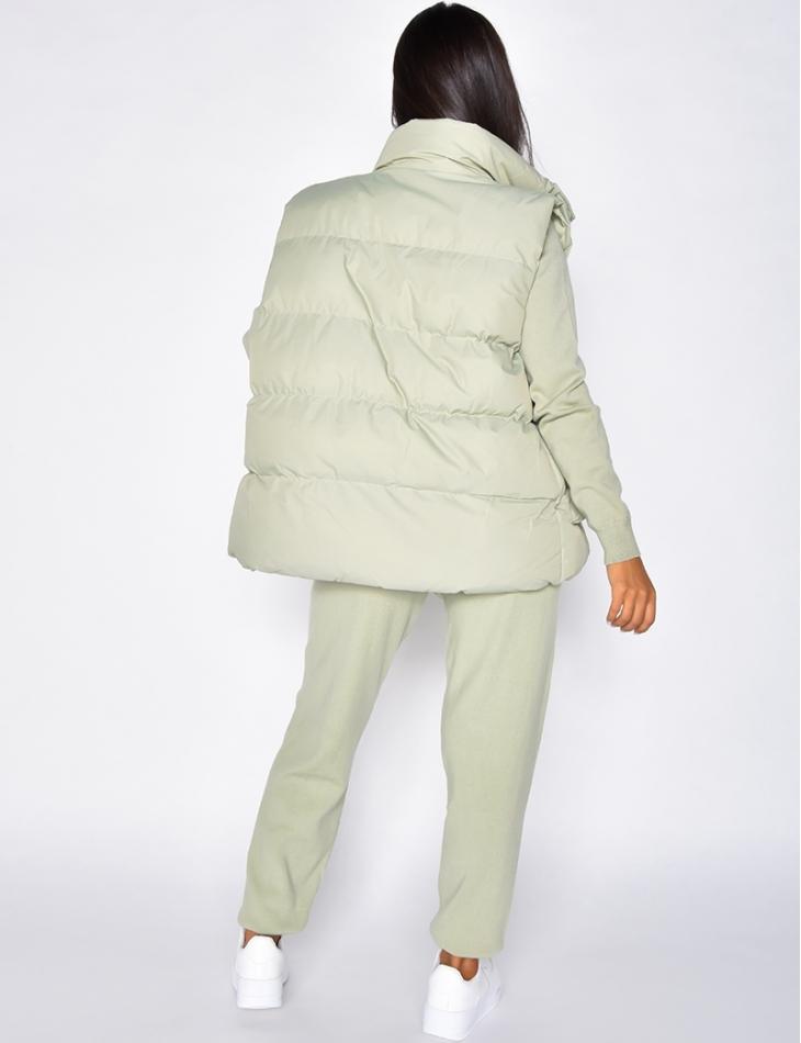 Ensemble 3 pièces doudoune pull & pantalon en laine