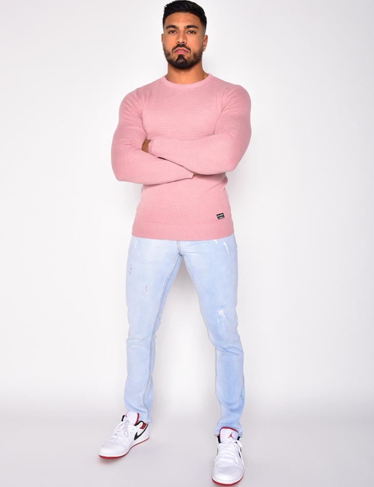 Pull fin homme