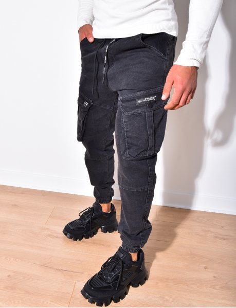 Pantalon cargo en jeans