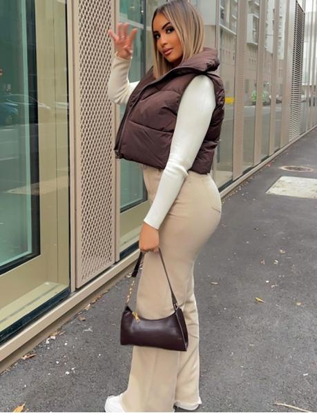 Veste courte sans manches