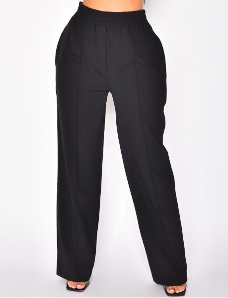 Pantalon coupe droite taille élatique