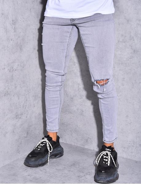 Jeans destroy au genou
