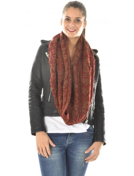 Echarpe tube en laine