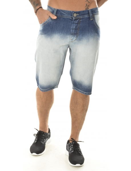 Twister Acid Wash Denima Bermuda Shorts