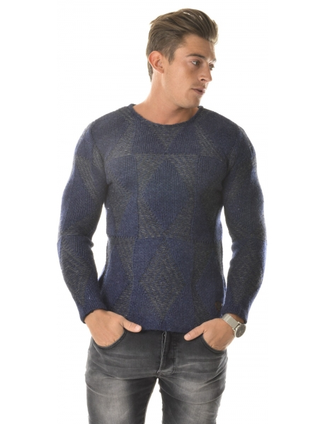 Exclusive Wool Jumper with Contrasting Patterns