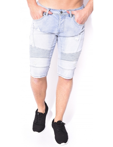 Bermuda Gov Denim motard en jeans
