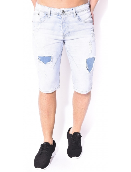 Gov Denim Ripped Denim Bermuda Shorts