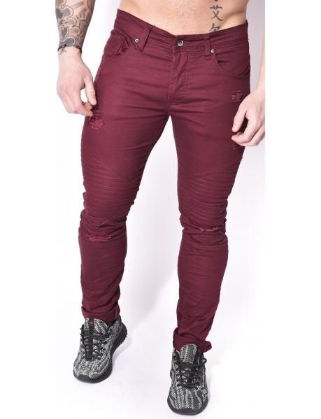 Gov Denim Ripped Biker Jeans